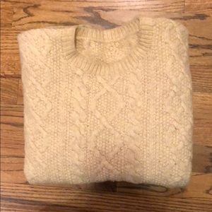 J. Crew hand knitted wool sweater